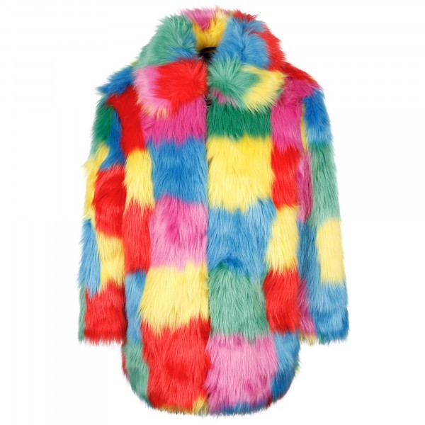 Stella McCartney Colorful Fluffy Coat