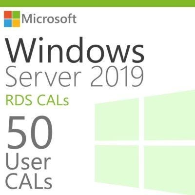 windows server 50 rds user cals product key