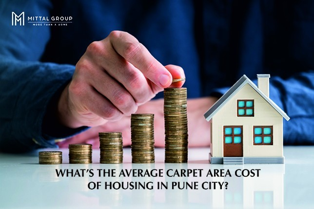WHAT'S THE AVERAGE CARPET AREA COST OF HOUSING IN PUNE CITY?