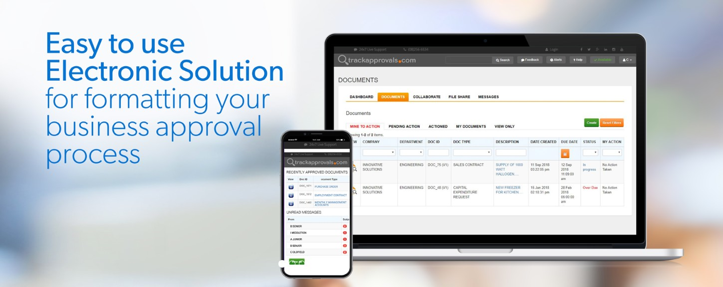 Get Document Tracking System by trackapprovals