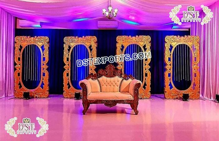 Wedding Stage Backdrop Decor Gold Medallions