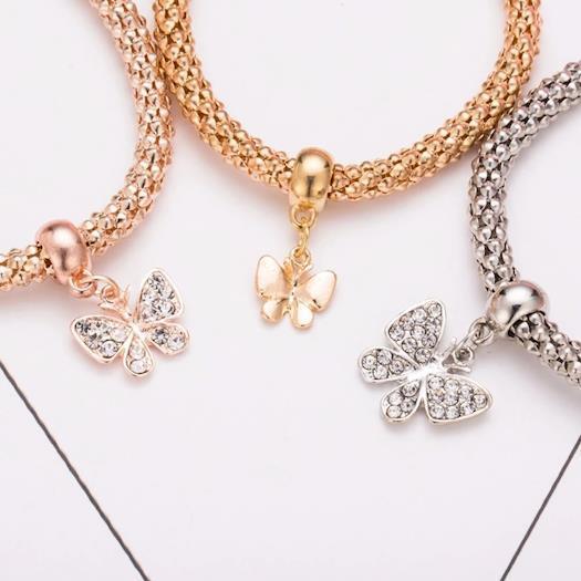 Rhinestones Butterfly Bracelet