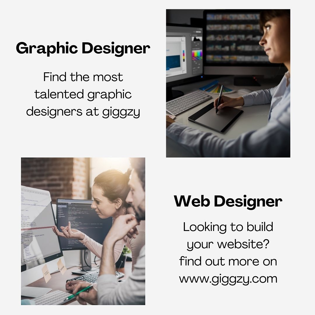 Find & hire expert designers to create your brand and design your website at giggzy.
