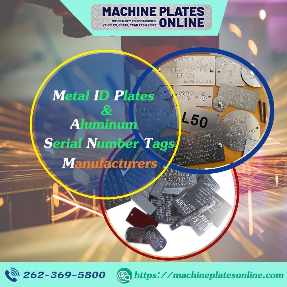 Metal ID Plates | Aluminum Serial Number Tags