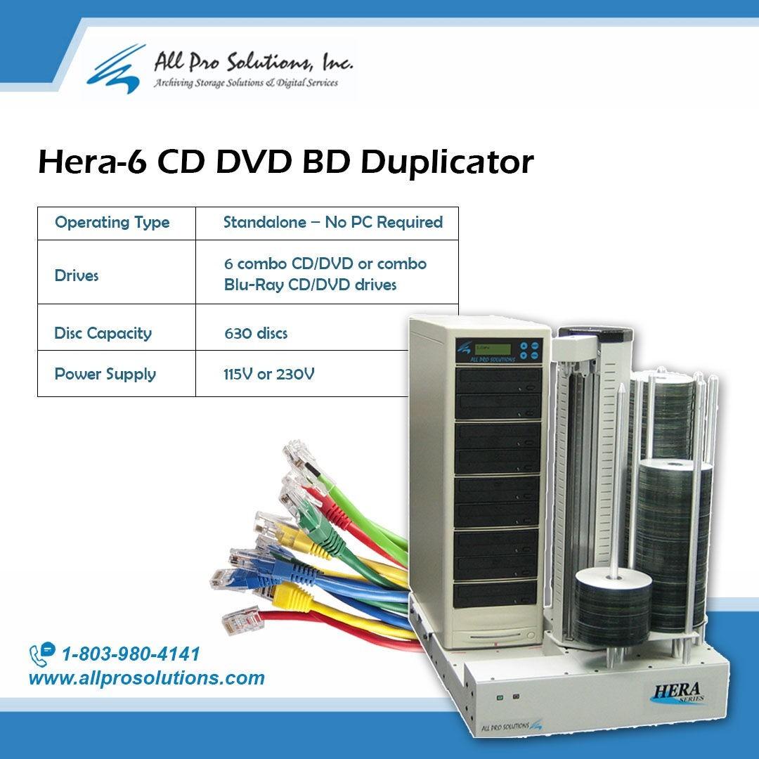 Hera-6 CD DVD BD Duplicator