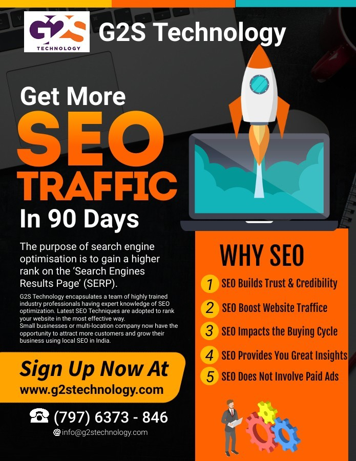 SEO Traffic Boost and improve ranking | G2S Technology