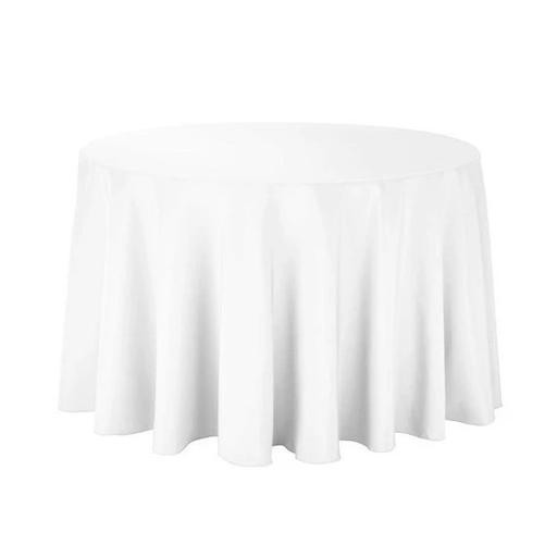 108-Inch Lilac Bridal Satin Round Tablecloth