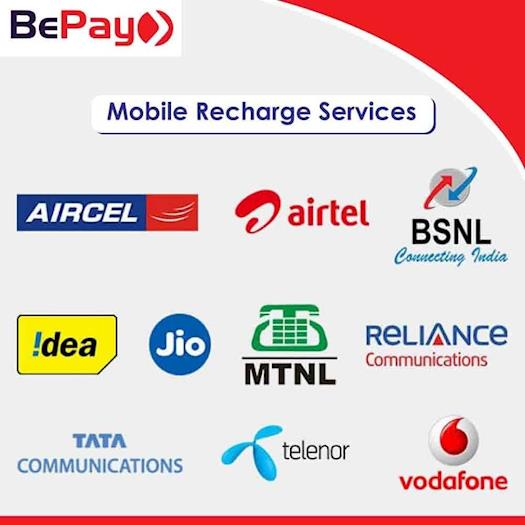 Get Online Mobile Recharge Service on BePay