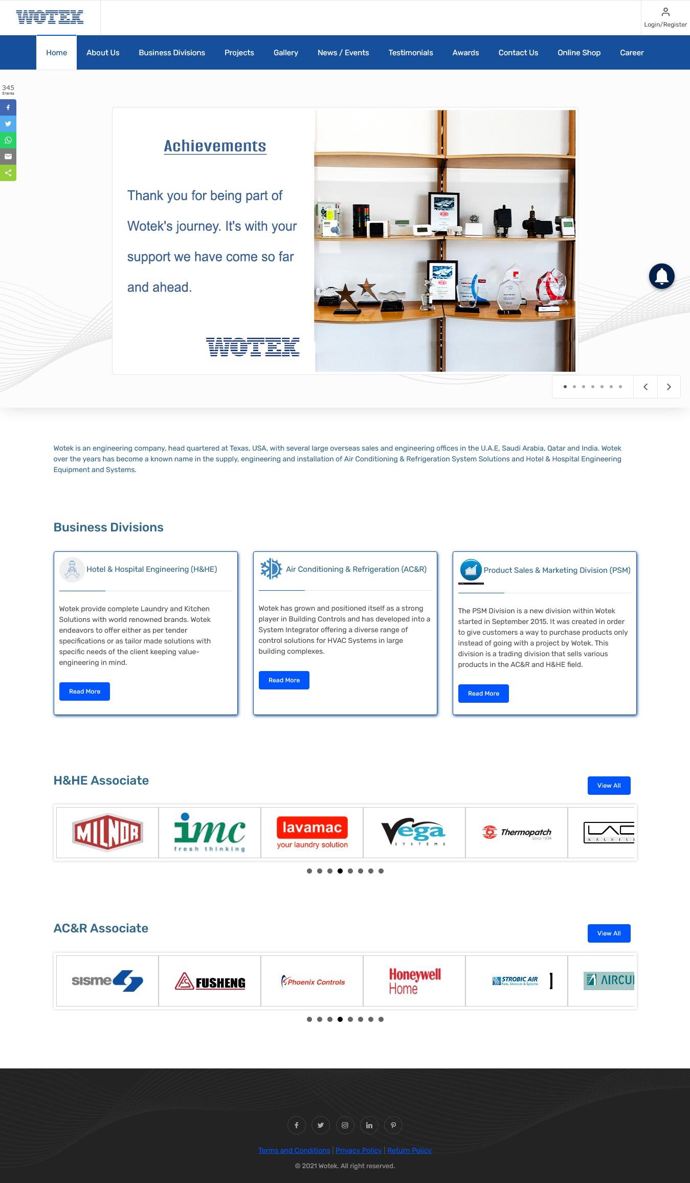 Industrial Equipment Supplier Dubai - Wotek