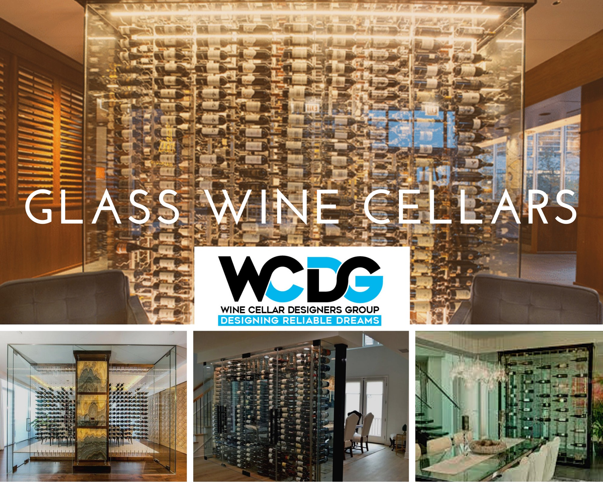 Elegant Custom Glass Wine Cellars Las Vegas