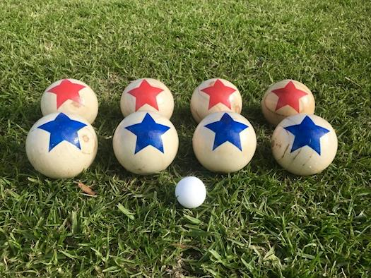 Deluxe 8 Wooden Ball Bowls Bocce Game Set