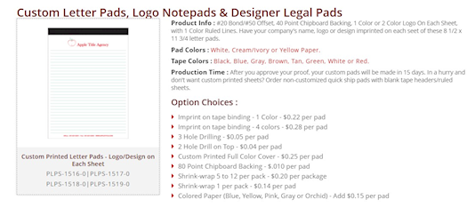 Shop now for Personalized Legal Pads, Custom Legal Pads, Leather Legal Pad Portfolio