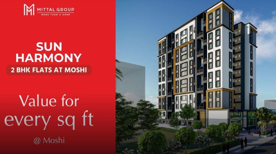 SUN HARMONY 2 BHK FLATS IN MOSHI | Mittal Builders Pune