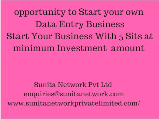 Outsource Data Entry Project by Sunita Network Pvt Ltd