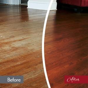Floor refinishing service
