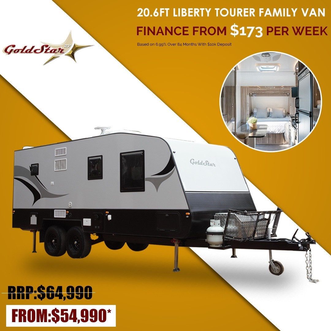 20.6 FT Liberty Tourer Family Van | The most luxurious in the Goldstar RV range of family Caravans F