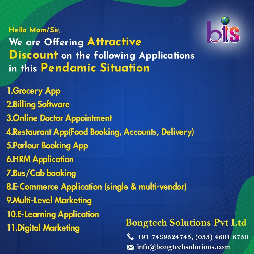 Get Attractive Discount On Any Customized Mobile App