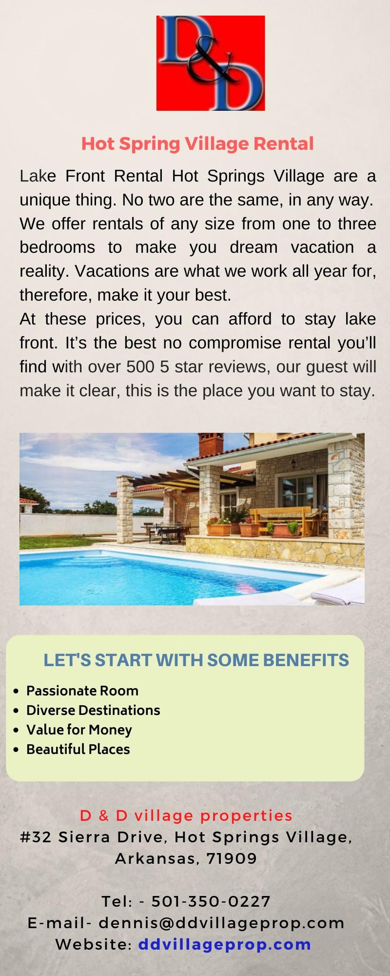 Hot Spring Village on a rental home
