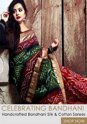 Latest Beautiful Collection of Pure Bandhani Silk Sarees from Unnatsilks