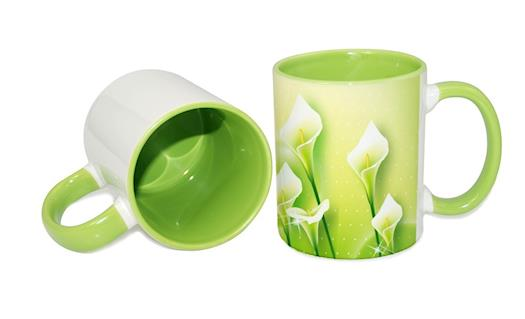 Sublimation Inner Rim Color Mug Lt.Green