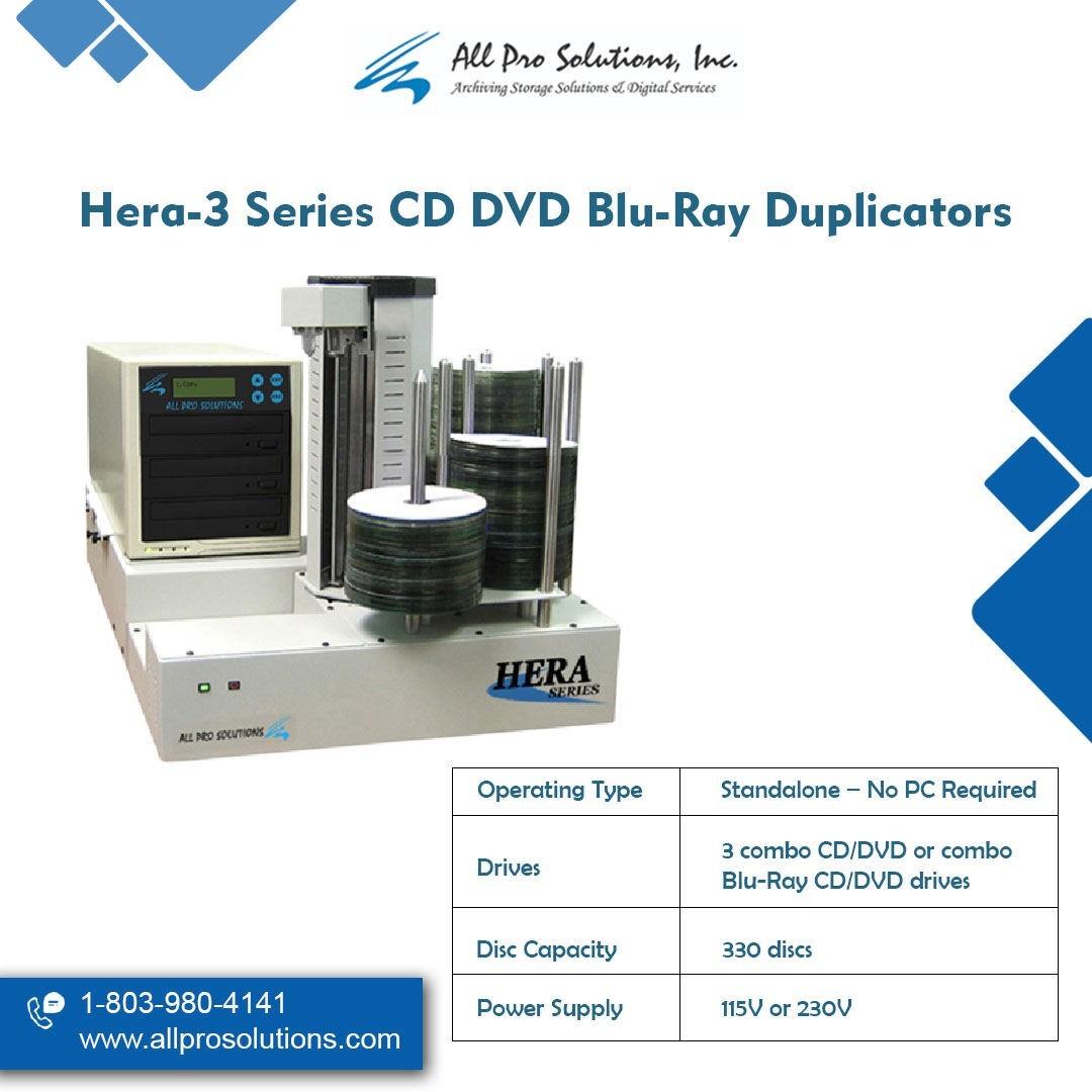 Hera-3 Series CD DVD Blu-ray Duplicators