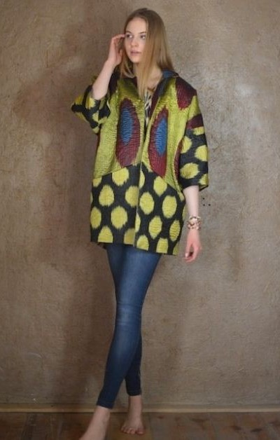 Hand-quilted Ikat Jacket