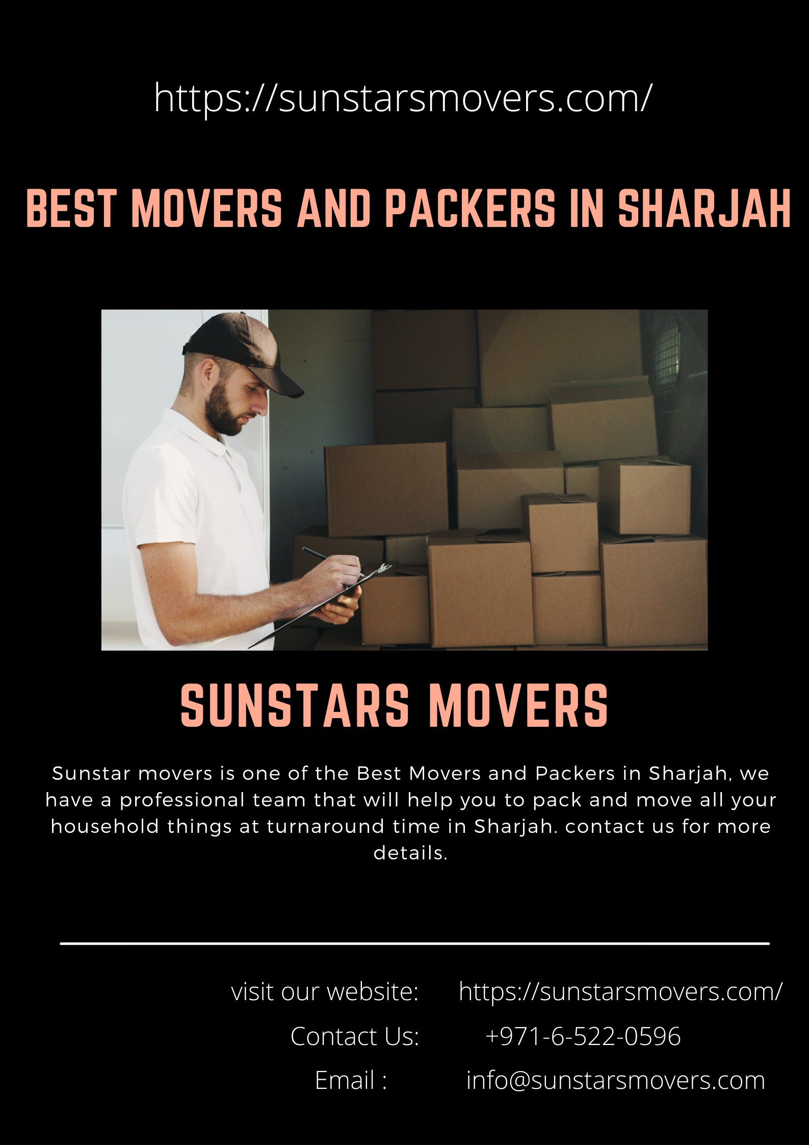 Best Movers and Packers in Sharjah   Sunstars Movers