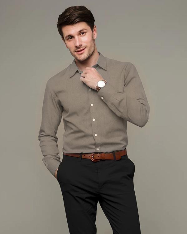 plain grey shirt for men