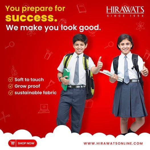 Buy High-Quality and Comfortable School Uniforms only at Hirawats