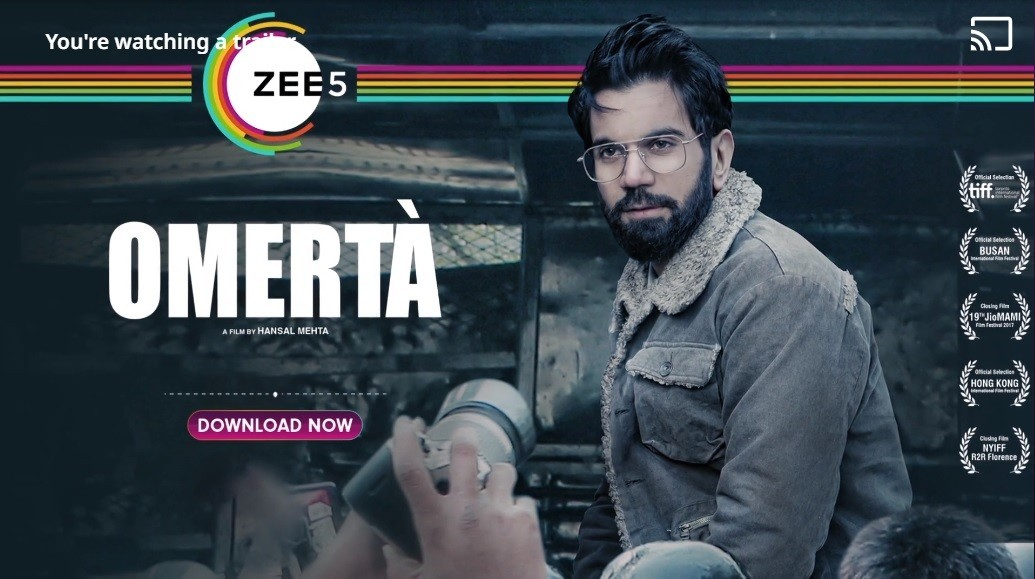 Watch Omerta Movie | ZEE5