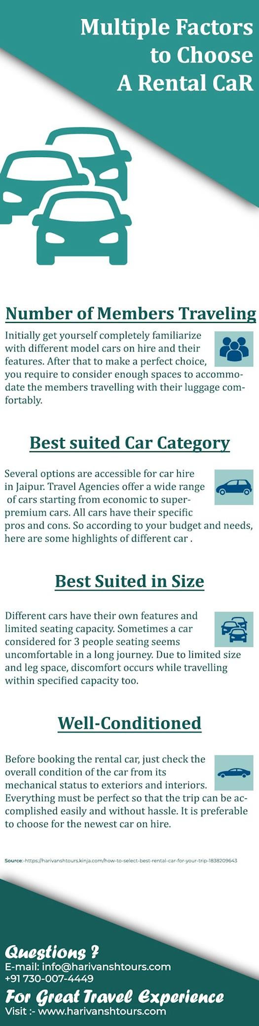 Multiple Factors To Choose A Rental Car