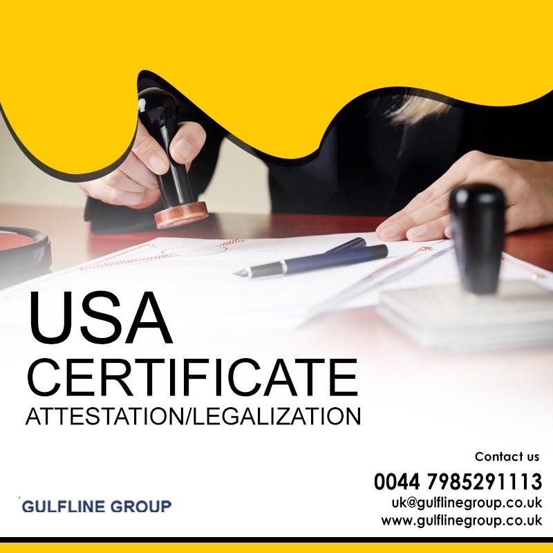 USA certificate Apostille in Bahrain