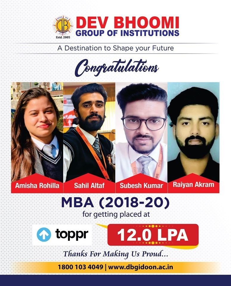 Topper Placement DBGI