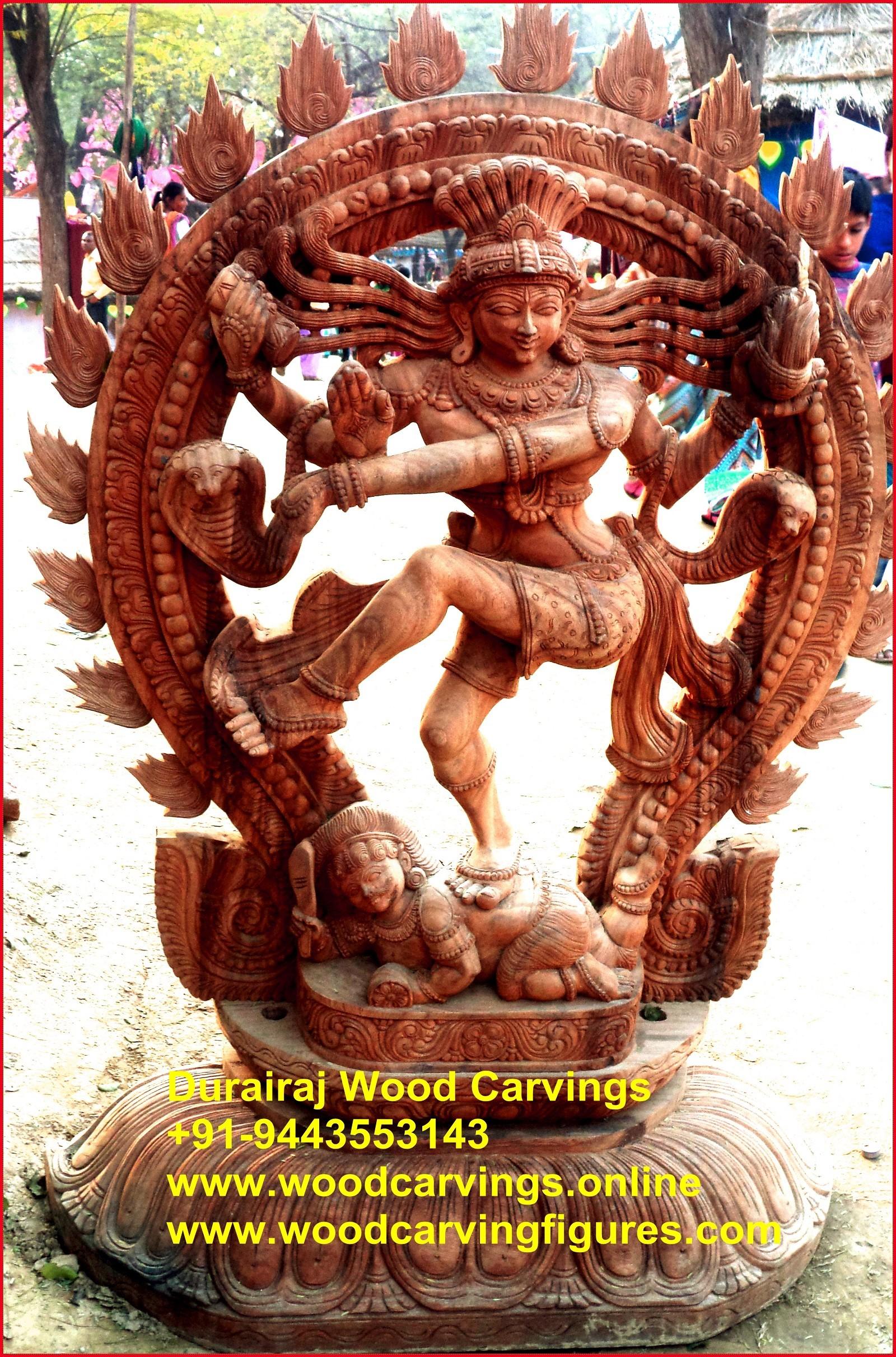 Nataraj Dancing  God shiva wooden statue