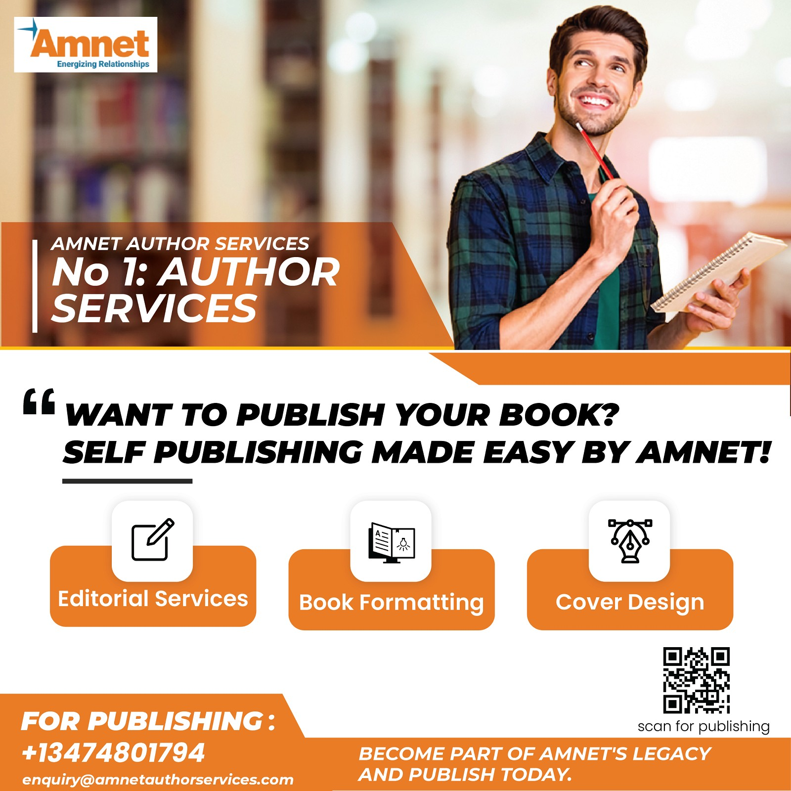 Want to publish your book? Self-publishing made easy by AMNET