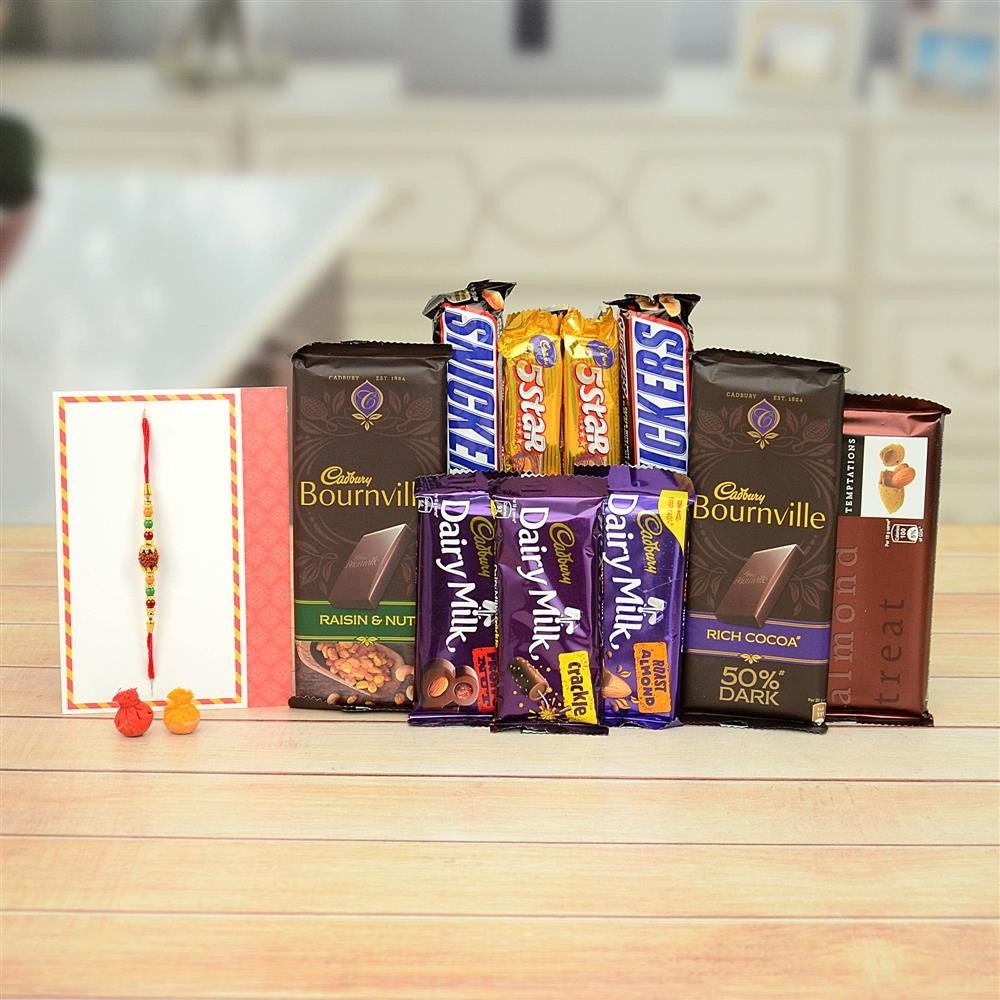 Rakhi With Sweets Online From MyFlowerTree