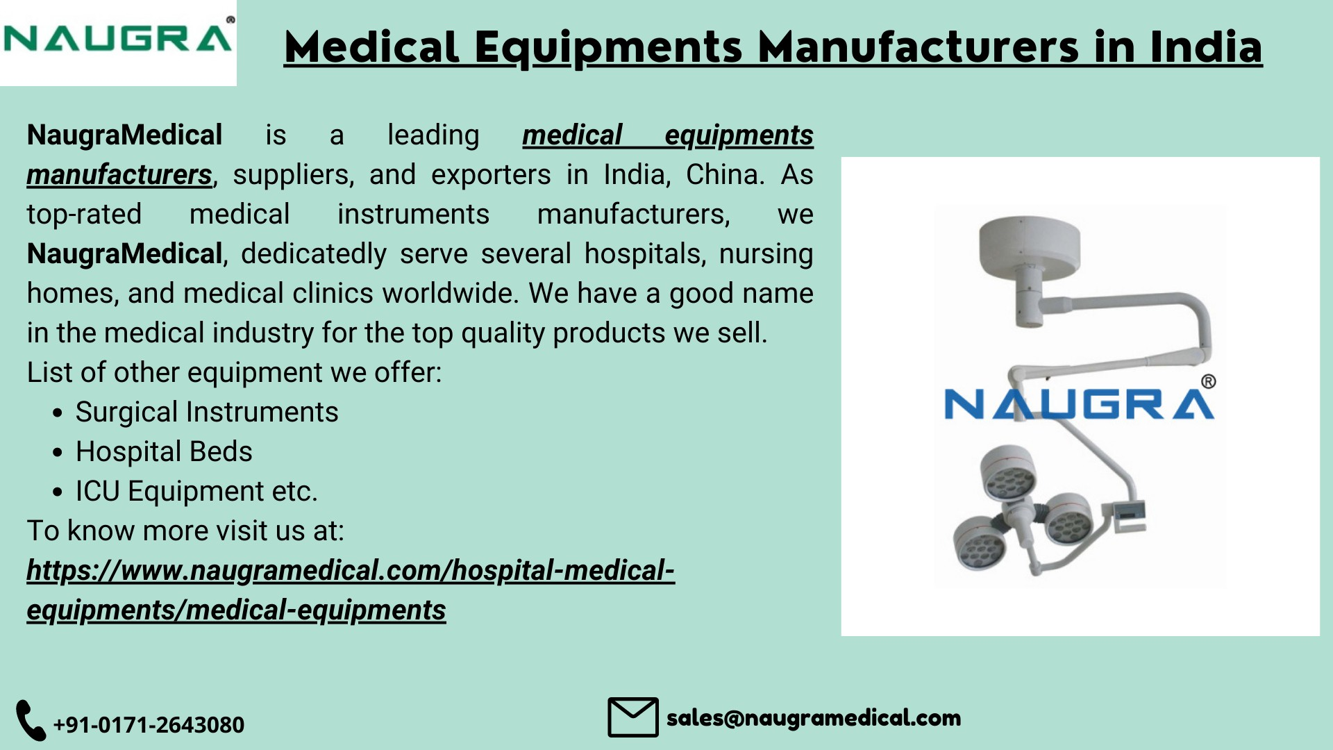 Medical Equipments Manufacturers in India