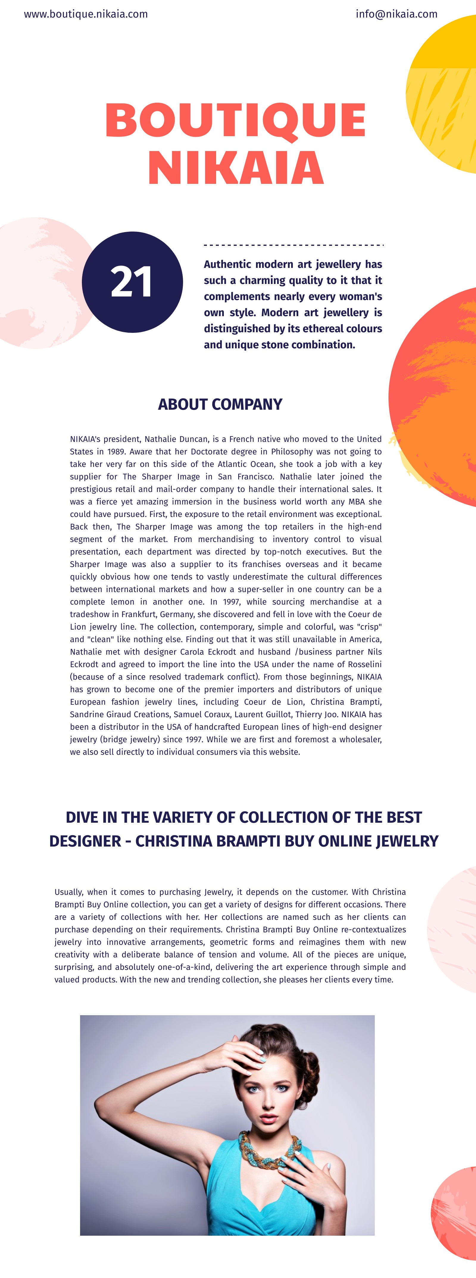 With inspirationally designed collections, grace yourself with Christina Brampti Jewelry:
