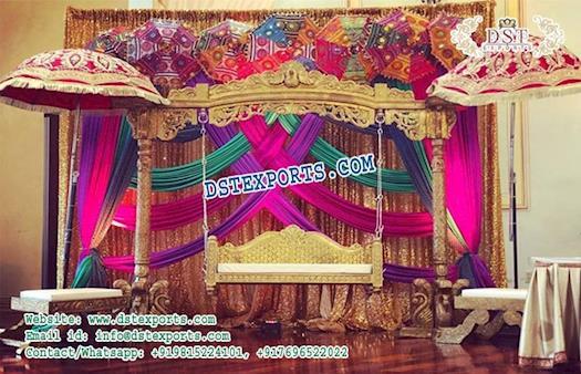 Muslim Walima Mehndi Stage Swing