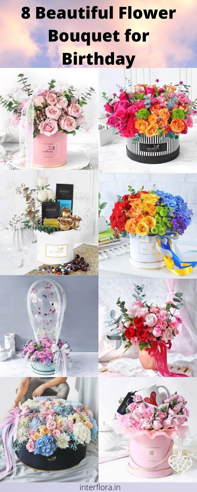 8 Birthday Flower Bouquet Idea - Interflora India