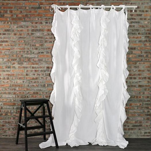 Drops Ruffles Linen Window Curtain From Linenshed Australia