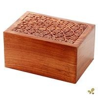 Solid Rosewood Cremation Urn - Tree of Life Design