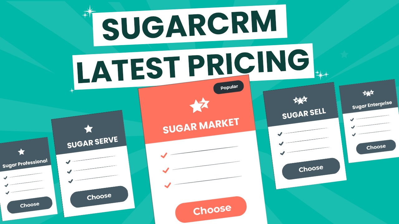 SugarCRM Pricing plan with top-notch Features