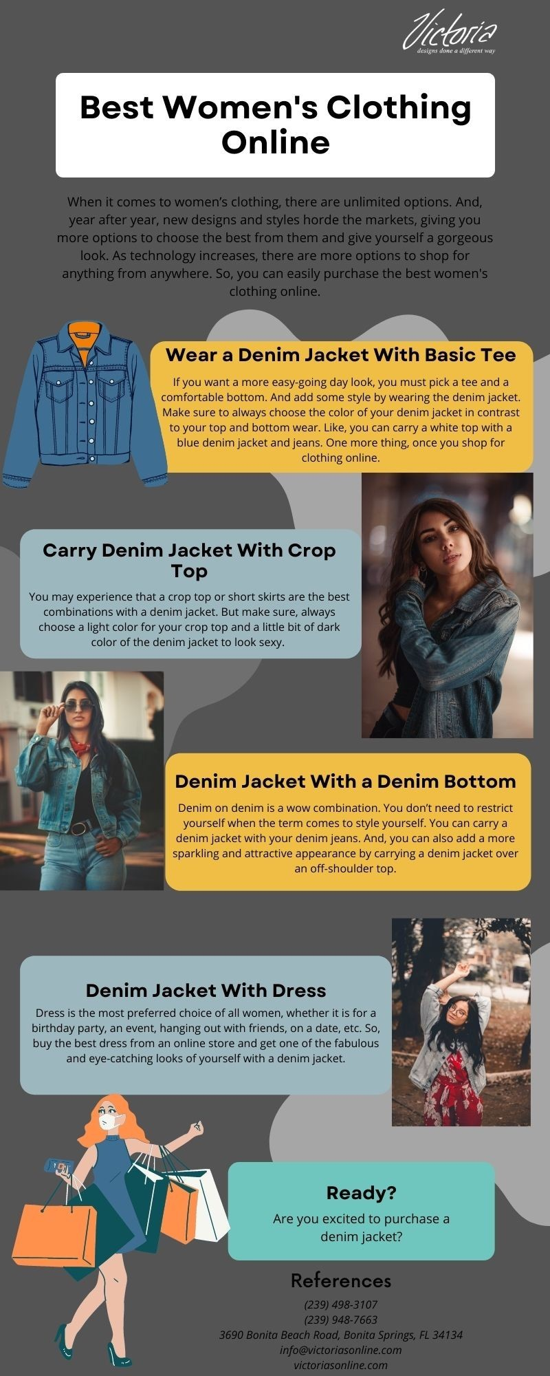 Order Denim Jackets at Women's Clothing Online Store - Victoria Place