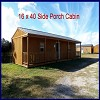 16 x 40 Side Porch Cabin - On Lot