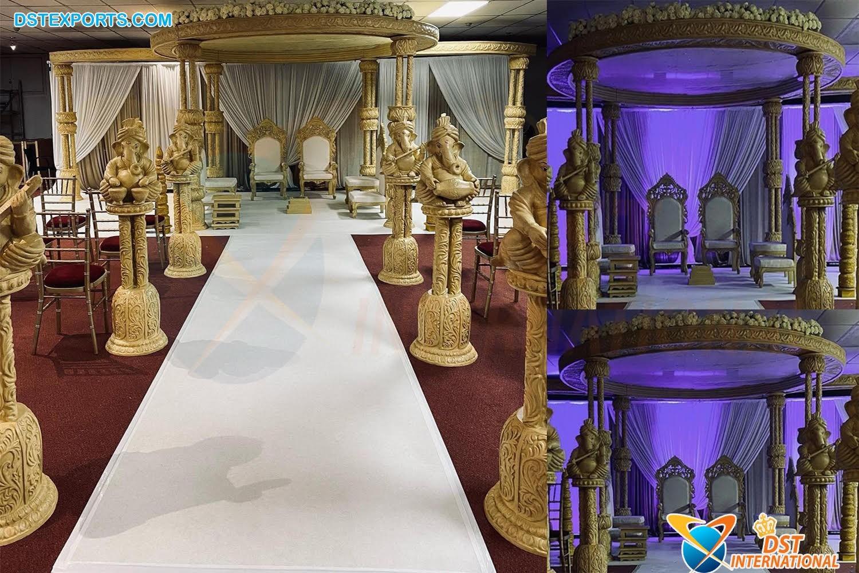 Unique Design Wedding Wooden Tridev Mandap