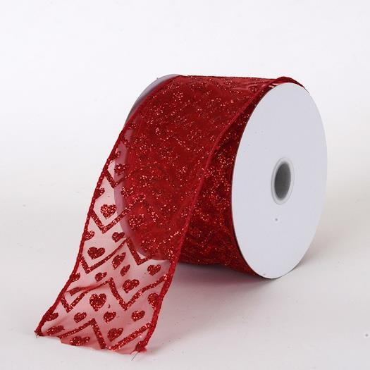 Valentine Ribbon Red ( 2.5 Inch x 10 Yards )