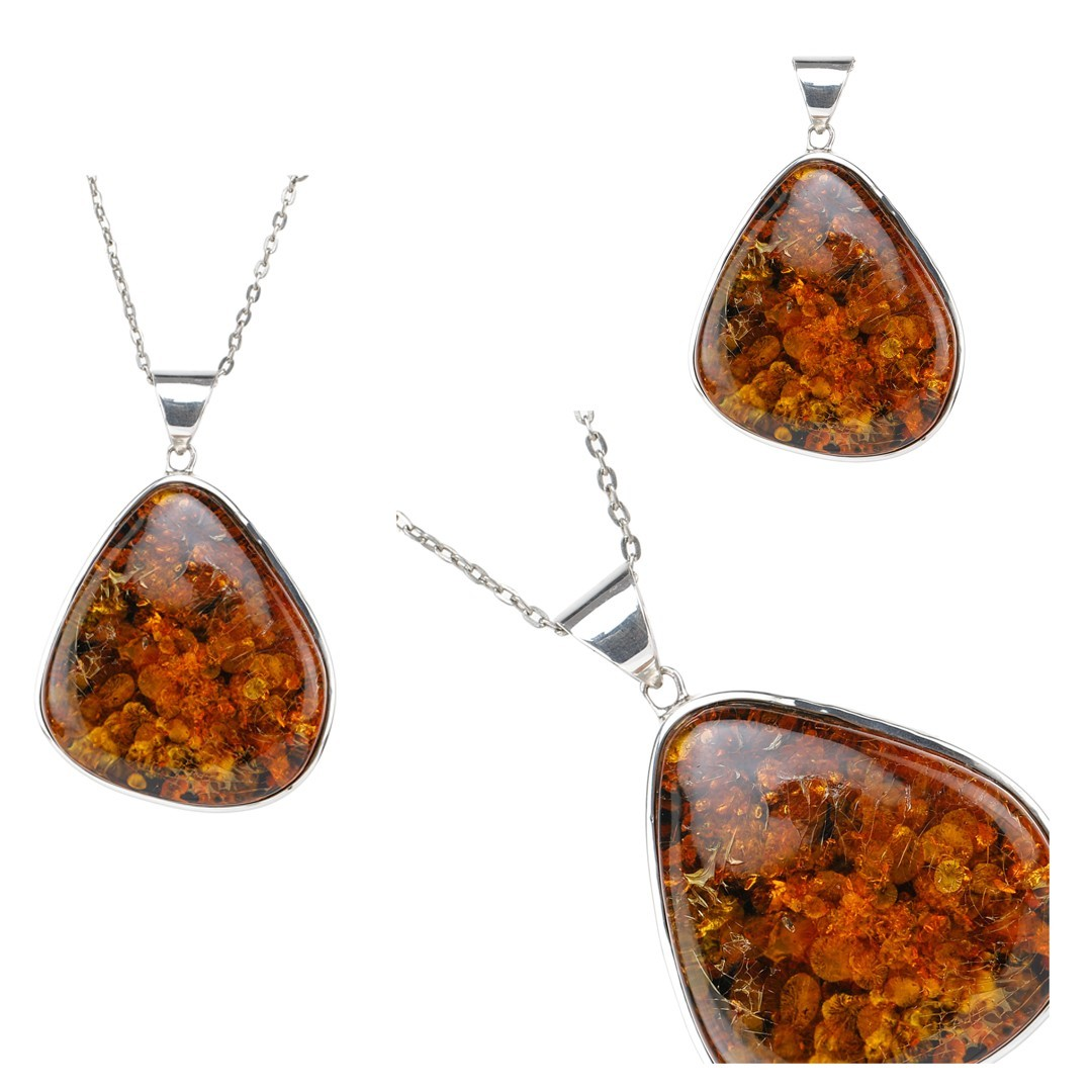 Get Amber Large Pendant by Exotic India Art