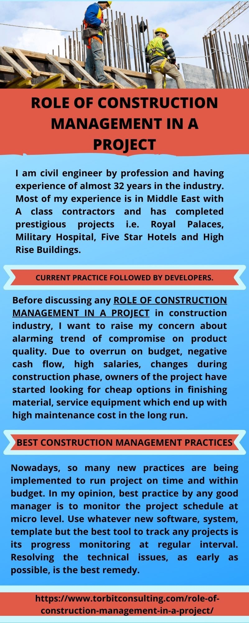 Role of Construction Management in a Project