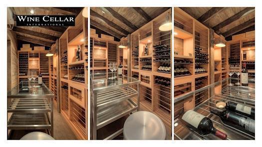 Residential custom wine room
